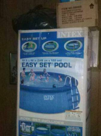 Intex 18  x 48  round easy set up above ground swimming pool -   x0024 275  Hewitt