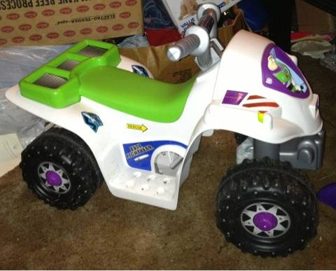 Toy story 3 Buzz Lightyear power wheels 4 wheeler - $35 (Lacy Lakeview )