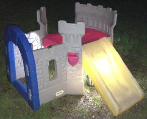 Little tikes indooroutdoor play castle with slide - $40 (Lacy Lakeview )