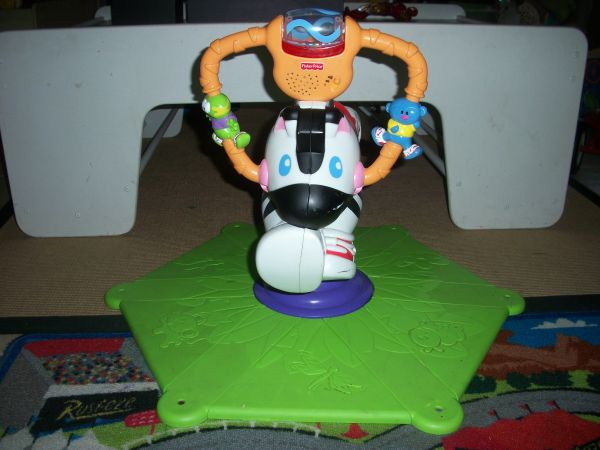 Sit and spin Zebra toy - $10 (Robinson)