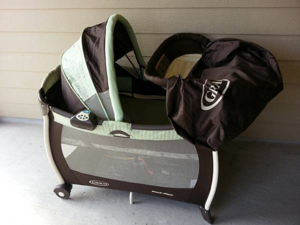Graco Silhouette Pack n Play Playard SweetPea from the Sprout n Grow - $85 (WacoChina Spring)