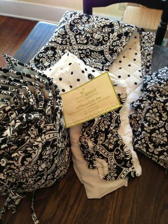 Baby bedding and curtains  - $35 (Waco)
