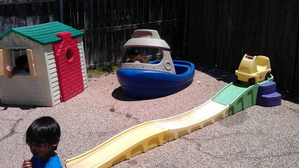 STEP 2 PLAYHOUSE, TUGGY SANDWATER BOAT, STRAIGHTSHOT ROLLER COASTER (BEVERLY HILLS)