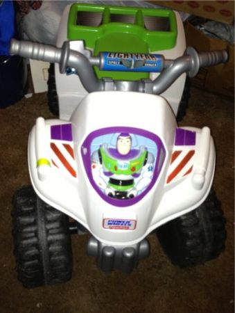 Toy story 3 Buzz Lightyear power wheels 4 wheeler - $50 (Lacy Lakeview )