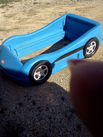 Little Tikes Blue race Car bed - $100 (Speegleville)