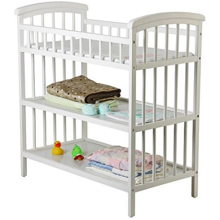3-tier White Changing Table - $40 (Lacy-Lakeview)