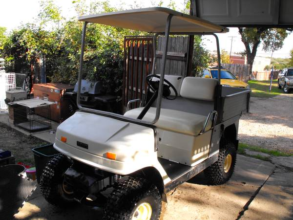 yamaha gas golf cart diamond dump bed runs great trade  - $3900 (waco)