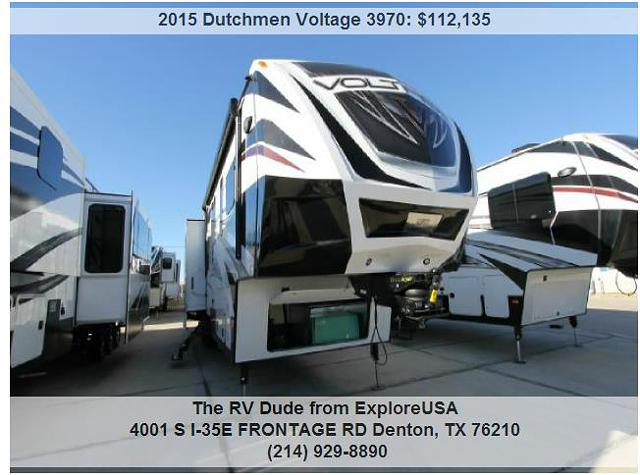 $112,135, 2015 Dutchmen Voltage 3970