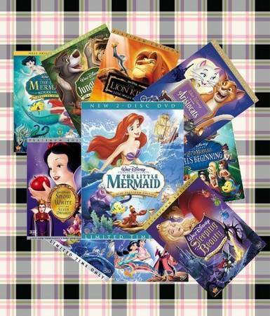 10 DISNEY MOVIES YOU CHOOSE FREE SHIP - $80