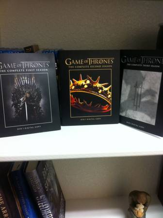 Dvds and blu-rays for sale - Game of thrones and various movies -   x0024 90  Waco