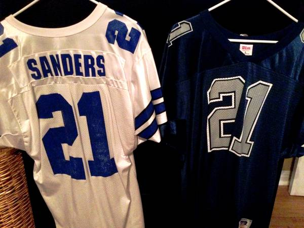 2 Vintage 1995 Dallas Cowboys Deion Sanders HomeAway Game Jerseys - x002435 (waco)
