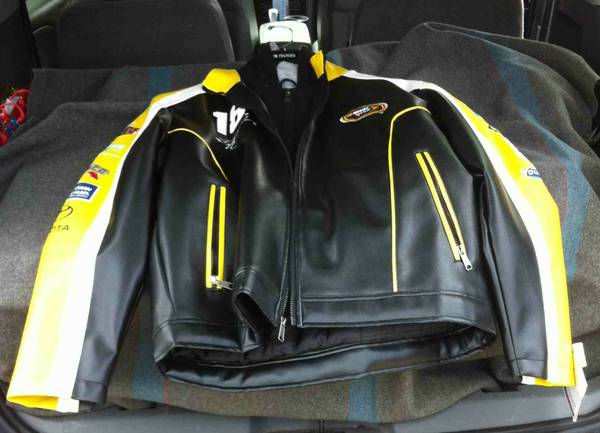 NASCAR Licensed Leather Jacket from Wilson Leather - Sz XL - NEW - x0024120 (Woodway McGregor)