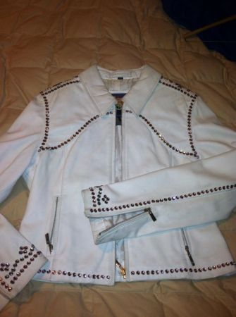 Jacket Repriced 150.00 to 50.00 White Small Ladies Leather Wrhnstns - $150 (LORENA)