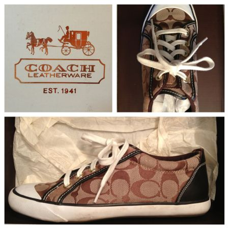 Coach Barrett Sneakers. Size 8 12 - $50 (McGregor)