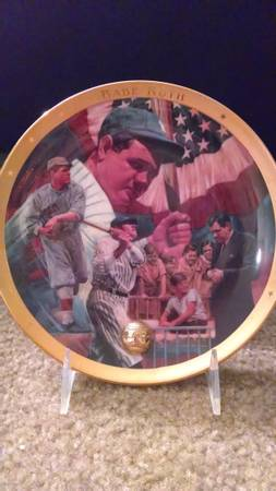 THE LEGENDARY BABE RUTH PLATE-1995-FRANKLIN MINT - $35 (KILLEEN)