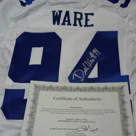 Demarcus Ware Authentic Autographed Jersey - $400 (waco )