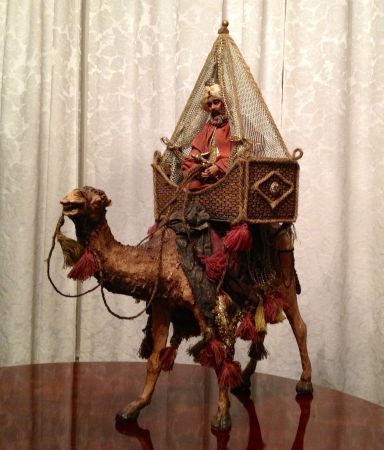 Department 56 Neapolitan Nativity Camel w King Under Canopy - $550 (Round Rock)