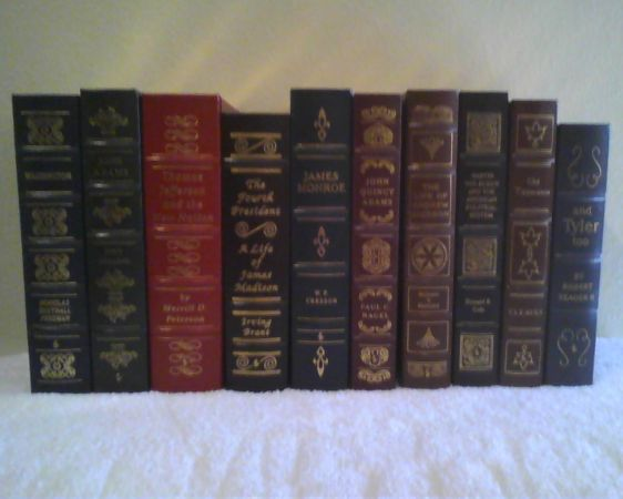 Leather Books 46 Volumes Library of the Presidents 3 are signed - $1242 (Waco)