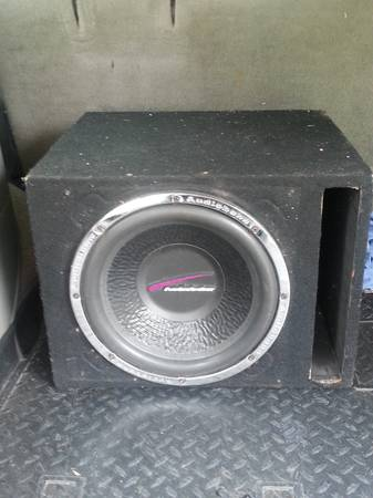 12 inch sub with box and - $75 (waco)