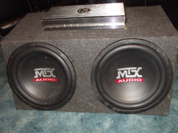 Two 12 MTX Thunder subs and Memphis Audio1200 rms mono block - $225 (North Waco)