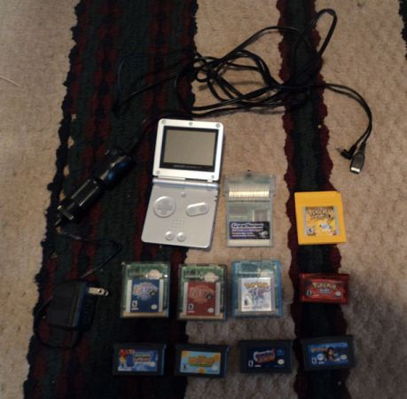 Game Boy Advance SP 9 games - $100 (Waco)