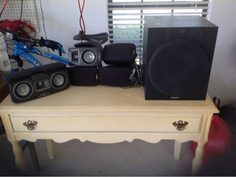 Klipsch speakers, Sony subwoofer - $200 (Fishpond road)