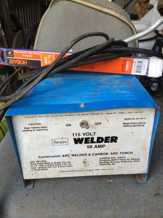 Sears 50 AMP 115 Volt Stick Welder - x002450 (west)