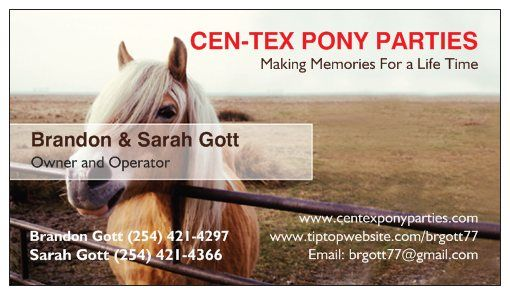 CEN-TEX PONY PARTIES (Central Texas)