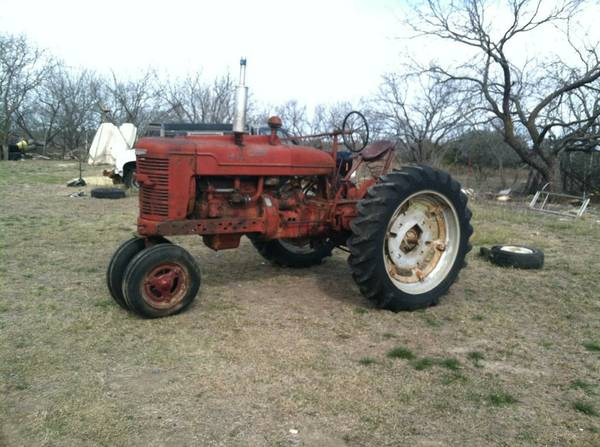 farmall M tractor with plow - $1500
