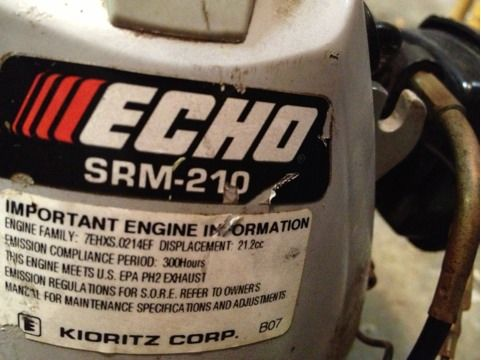 Echo Srm 210 Weedeater (Woodway )