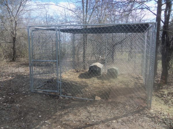 10x10x6 Dog Kennel with Shade Top - $200 (McGregorOglesby)