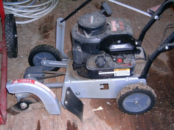 Mower, Edger, scooter, cakepans - $1 (Crawford)