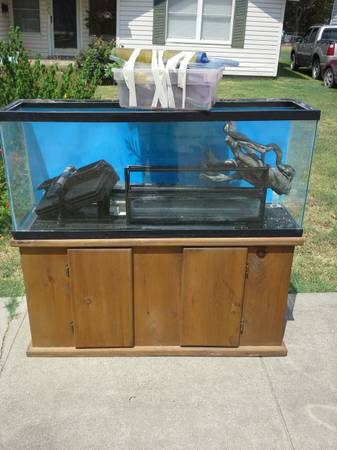 55 gallon aquarium with stand and extras - $200 (Hillsboro, TX)