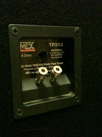 MTX TP212 Thunder Pro Dual 12 Tower Speakers - $300 (Waco, TX)