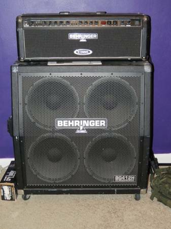 Behringer 120W Head 4x12 Cabinets Footswitch - $250