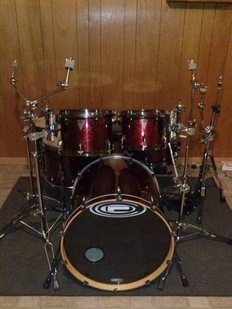 6 Piece Drum Set and Gig Bags - $900 (Baylor)