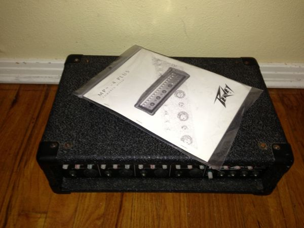PEAVEY MP4 POWERED MIXER AMP - $180 (WACO)