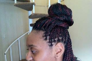 SENEGALESE TWIST $100 KINKY TWIST $95 BOX BRAIDS $100 (dallas)