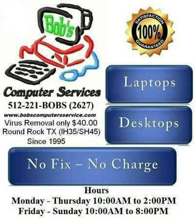 HONEST AFFORDABLE COMPUTER SERVICES FLAT RATE (Since 1995, Round Rock TX)