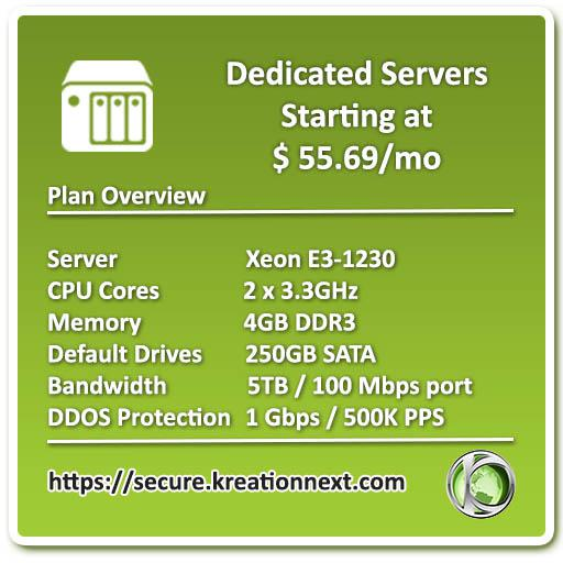 Discount on every dedicated server up to 20  no coupon needed